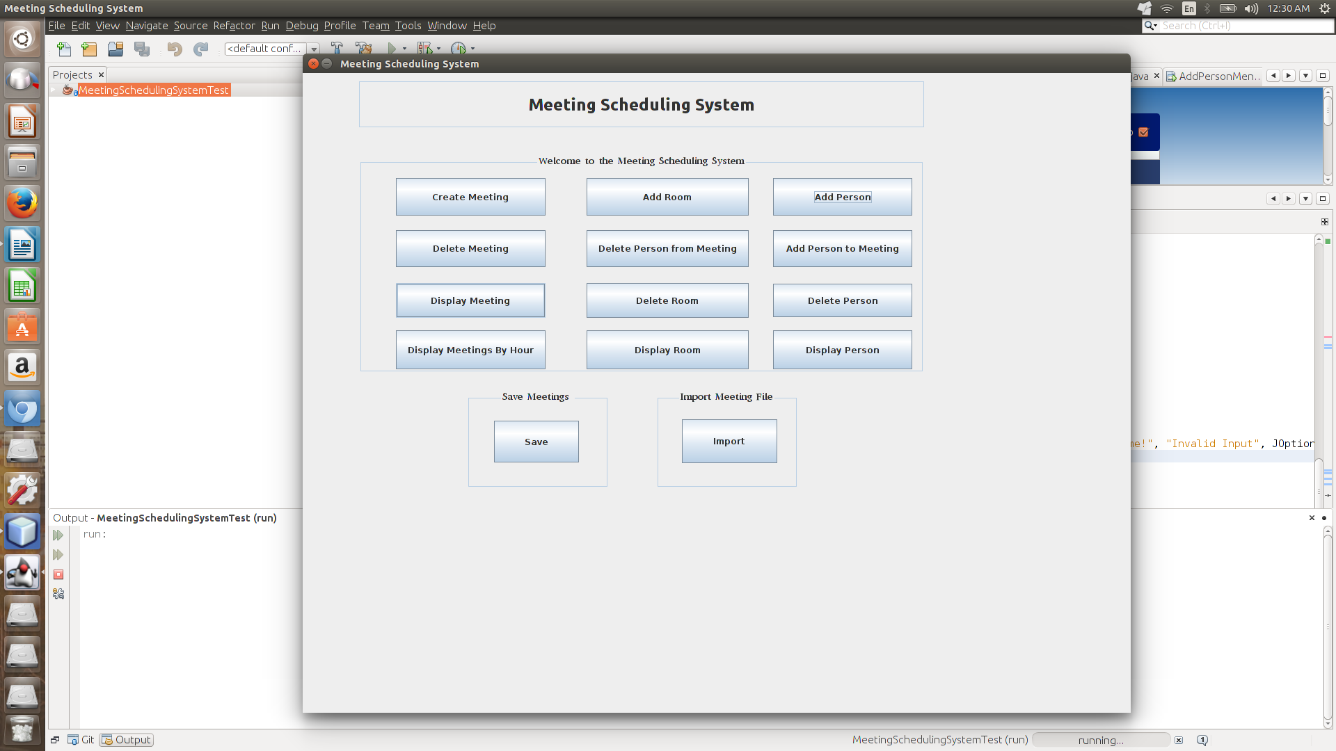 Picture of Meeting Scheduling System Application
