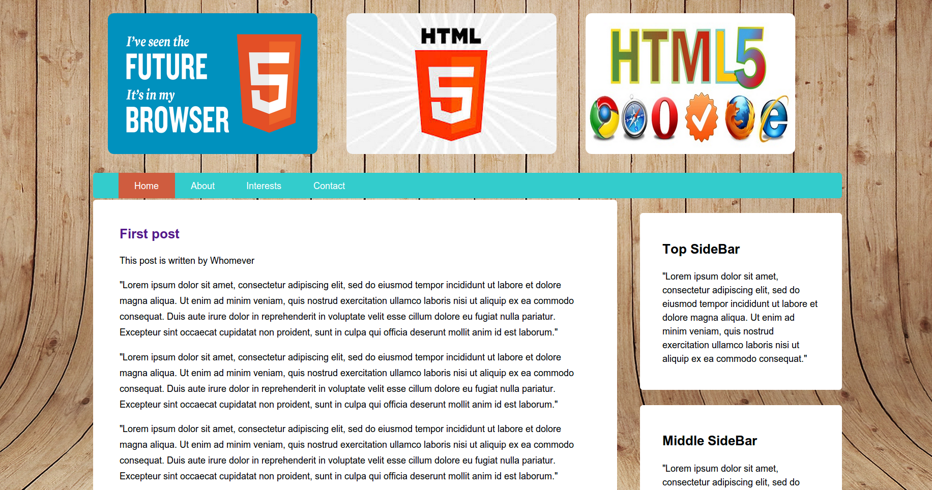 Picture of my HTML5 Template